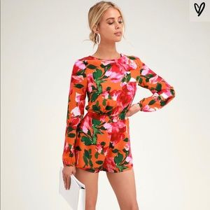 Lulu's Sweetest Song Floral Print Backless Romper